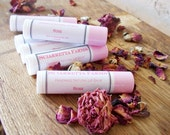 Rose Lip Balm with Unrefined Shea Butter, Lipstick Primer, Moisturizing Lip Butter