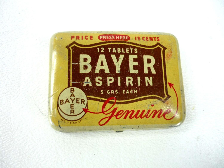 Travel Size Bayer Aspirin