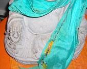 REduced Price   .....Kenzo Scarf....Turquoise Kenzo Oblong Scarf....Vintage Kenzo Paris Silk Scarf.......CO4