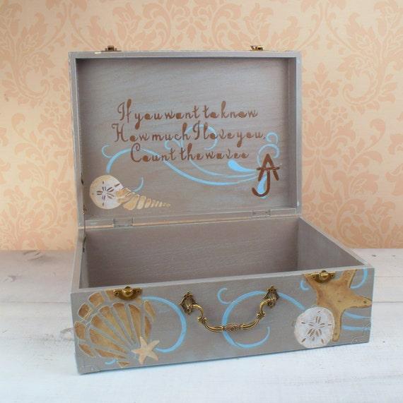 Beach Wedding Card Box Rustic Wedding By Truevinetreasures On Etsy