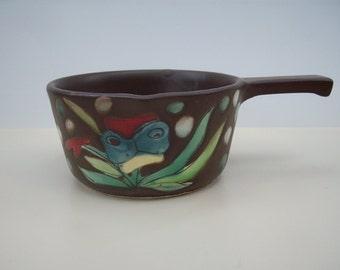 Mid Century Scandinavian Stoneware Serving Bowl Japan