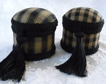 Jewel Boxes Set Of Two Black Cotton Checks Teacher Gifts