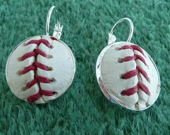 Baseball Earrings Made From a Real Baseball - SALE!