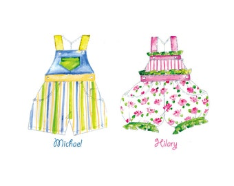 Nursery Decor for Twins, Personalized Prints for Children