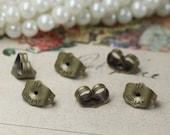 100PCS Antique bronze 5x7mm ear nuts- W06185