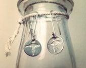 Sterling Silver Flying Bird Earrings