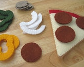 Felt Food Pizza Slice - FiddledeeDeeCraft