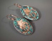 READY to SHIP Handmade Copper Patinated Earrings CPE67