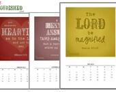 Bible Verse printable calendar 2014 - PDF format - Scripture memory - from Live Nourished .net (Christian blog)
