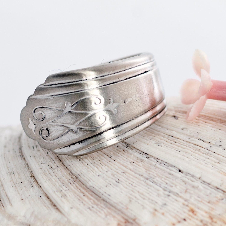 vintage spoon ring drexel silverware spoon ring silverware
