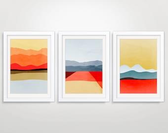 Large Wall Art, Mid Century Modern Art, Abstract Wall Art, Abstract Landscape Art Prints, Art Collection, Modern Wall Art