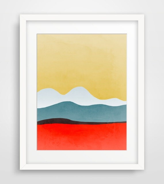 Modern wall art print mid century modern art abstract art for Minimalist art decor