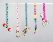 Toy Leash - Pink Swirls - Saver Strap - Sophie Saver - Pacifier Clip