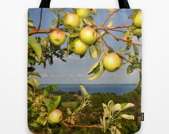 Apples on a tree photo tote bag