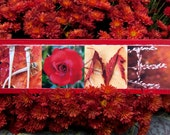 WORDS Inspired by Nature: HOME in warm reds and yellows (photography, handmade gift, home decor, inspirational art)