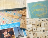 Vintage French Scrabble, Foreign Scrabble Game, Francophile Gift, French Learning Tool, Scrabble, Game, Scrabble, France, French Language