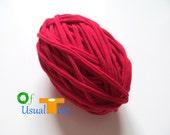 Fettuccini Yarn // Red Apple // 40 yards // 5 WPI