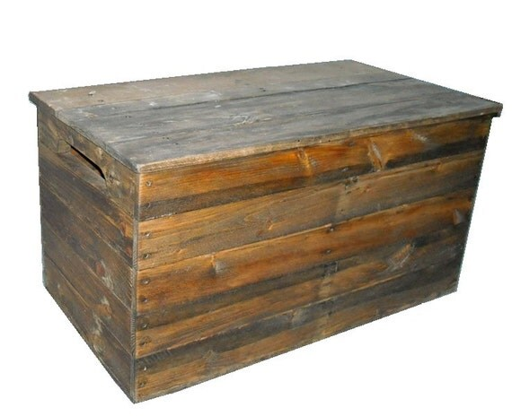 Primitive Wood Box Storage Chest Trunk Wooden box by ...