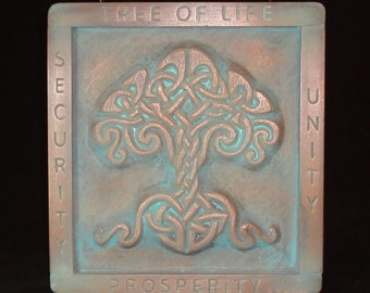 Celtic Tree of Life in copper from my orig woodcarving