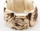 Patterned Tagua Nut Bracelet / Tagua Jewelry / Tagua Bracelet / Statement Bracelet / White / Tagua Nut Jewelry / Ecuador / Fair Trade