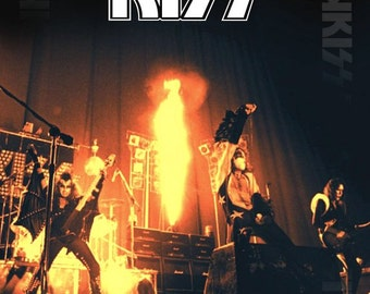KISS Dressed To Kill 1975 Portland Oregon Reproduction Concert Stand-Up Display - Collection Collector Collectibles Gift Retro Vintage Look