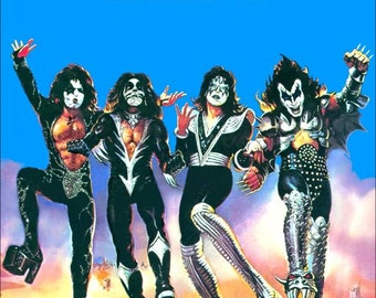 "KISS ""Destroyer"" Album Poster Stand-Up Display"