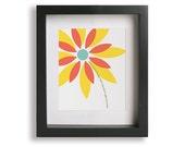 Good Life / OneRepublic - Music Lyric Art Print - children decor, graduation gift idea, home decor, framed wall art, living room, flower