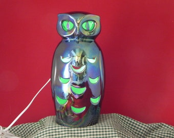 Owl Lantern from original Stangl mold by Hiatt House Pottery