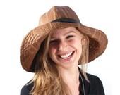 Francesca rain hat in cognac brown