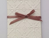 Embossed Card Stock Paper Winter Snowflakes for cardmaking and scrapbooking in your chosen color