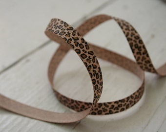 Skinny Leopard Print Ribbon, Animal Ribbon, Printed Ribbon, By the Metre, Craft,