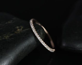 14kt Rose Gold Matching Band to Kubian 6mm Diamonds HALFWAY Eternity Band (Other metal options available)