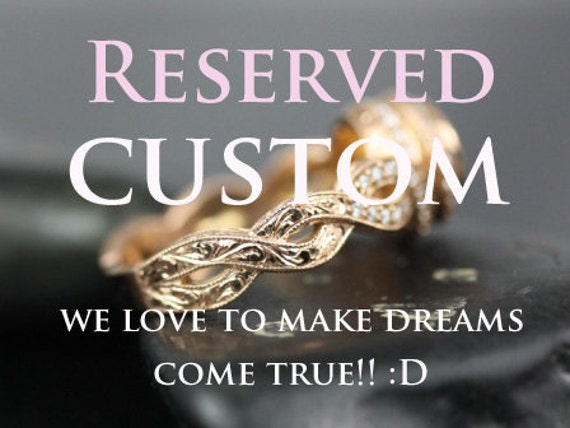 CUSTOM Vadim 14kt White Gold Round FB Moissanite Single Twist Wedding Set (Reserved for AM )