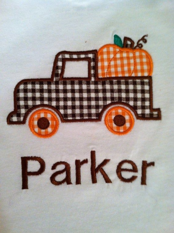 Infant, Toddler and Boys Pumpkin truck T-Shirt