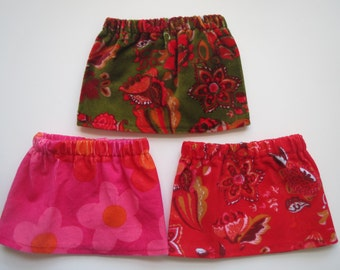 American Girl Corduroy/Velvet Holiday Skirts of Your Choice Bitty Baby