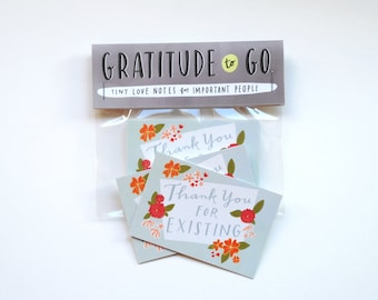 TINY Thank You Cards, Set of 10: Thank You For Existing by Emily McDowell / 145-T