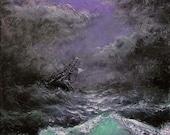 "83 - ""Shipwreck"", 8"" x 10"" original giclee print"