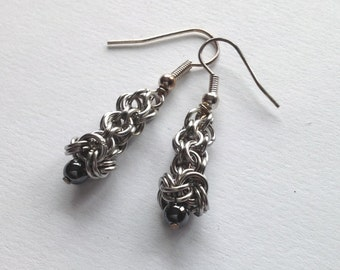 Haematite Drop Earrings