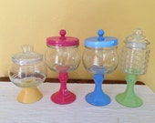 Custom Candy land Candy Jars / Apothecary Jars - Set of 4