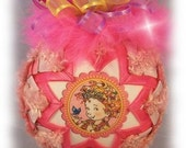 Fancy Nancy Children's Unique Handmade Keepsake Quilted Christmas Ornament