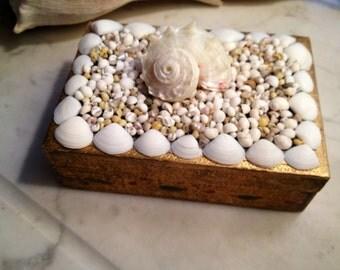 Italian Florentine Seashell Box/Seahell Jewelry Box