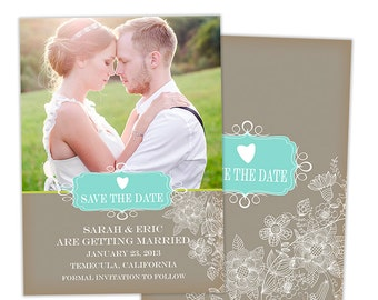 Save the Date Card Template for Photographers Photoshop Templates for Photographers Photo Card Template - SD102