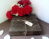 Custom for Tom - Cigar Box For Groomsmen - Wedding Gift - Carved Name Tag - Rustic Twine - Cigar Box /Holder