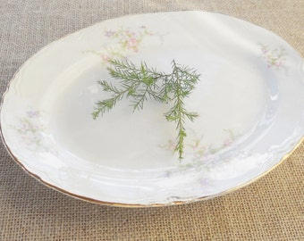 Cottage Chic Homer Laughlin Platter, G48N5, Antique, Shabby Chic, French Decor, Farmhouse