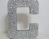 """Gorgeous Rhinestone Monogram Letters """"C"""" and Wedding Monogram, Elegant wedding decor, Wedding chair decor, Formal party 12"""""""