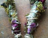 WEDDING/HANDFASTING smudge stick with herbs, flowers and oils custom blended for ceremony ritual