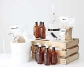 Brewery in a Box / 1 Gallon Home Brewing Kit with 2 Grain Packets / Beer Making