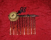 The Right Time - Hair Comb - Steampunk