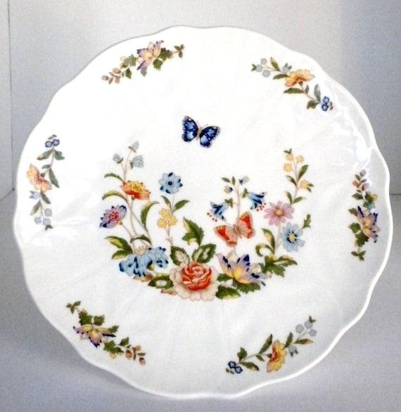 Aynsley Cottage Garden Pedestal Cake Plate Flowered By