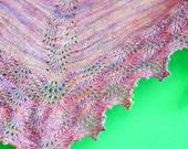 Painted Plumes Shawl - knitting pattern PDF